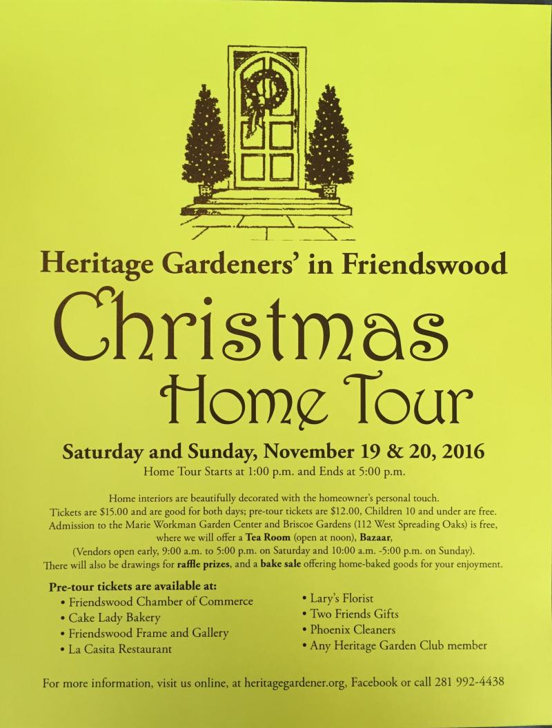 Heritage Gardeners Christmas Home Tour 2016